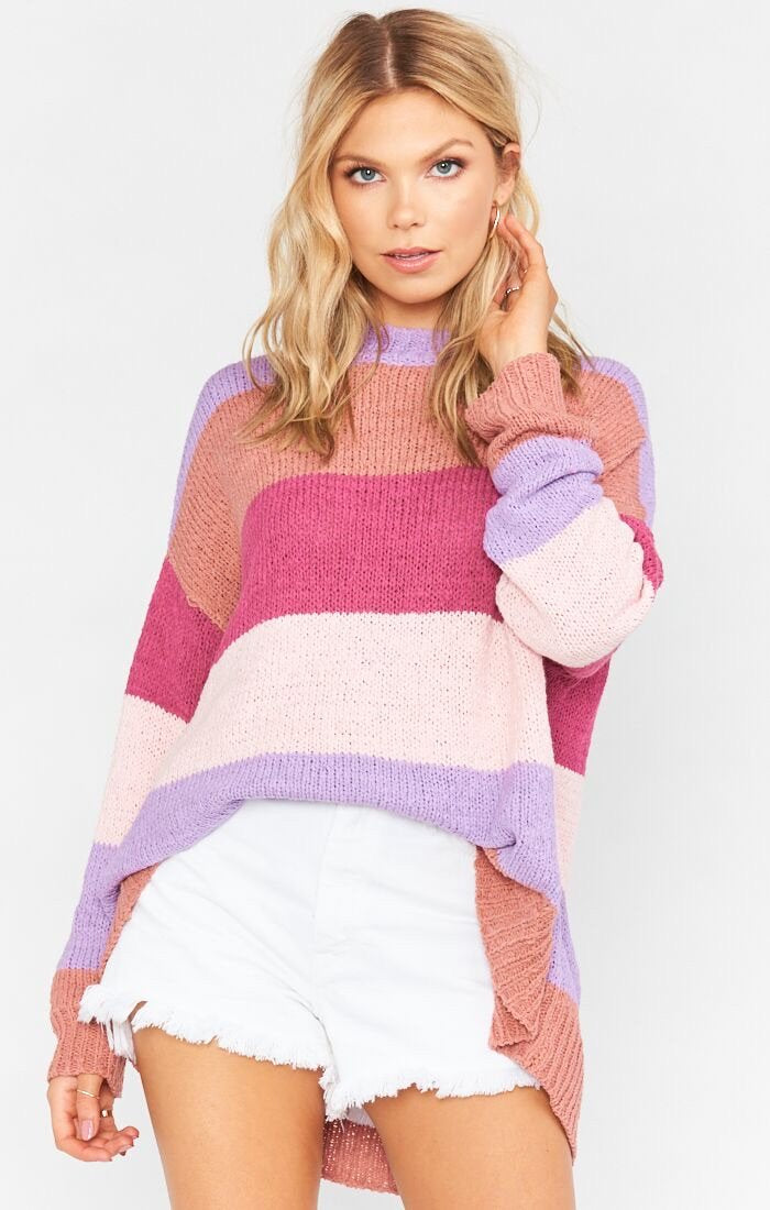 Woodsy Sweater - Sunset Stripe Knit