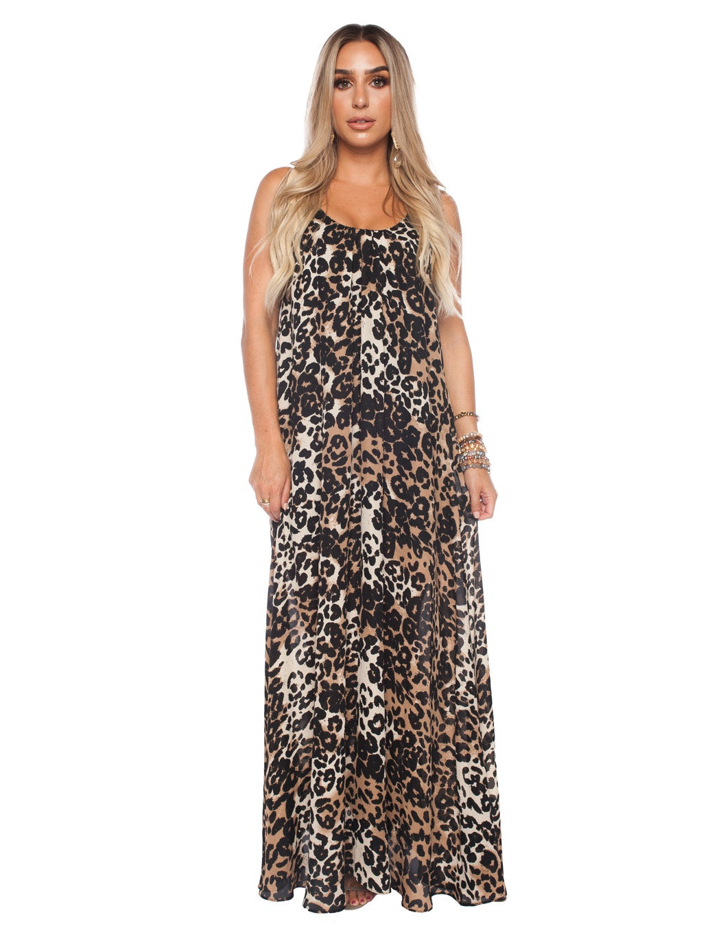 Panama Leopard Maxi Dress