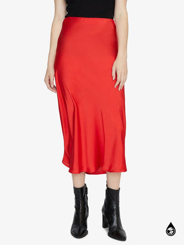 Everyday Midi Skirt - Party Red