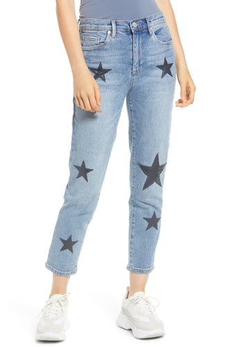 Star Patch Crop Skinny Jeans