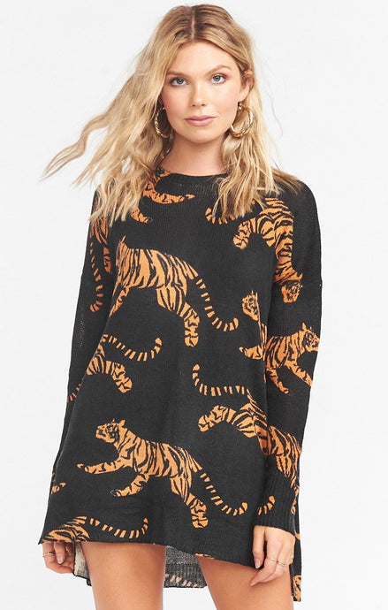 Bonfire Sweater ~ Tossed Tiger Knit