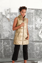 Anorak Gold Nylon Long Vest