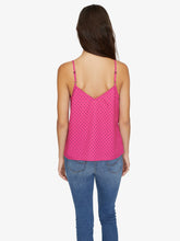Essential Button Front Tank - Hot Dot