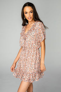 Trixy Ruffled Mini Dress - Bouquet