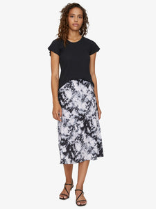 Everyday Midi Skirt - Dark Tie Dye