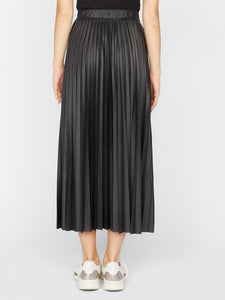 Top Secret Pleated Midi Skirt - Black