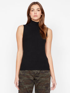 Essential Sleeveless Mock Neck Top