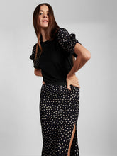 Groove On Tee Black with Latte Dot Sleeves