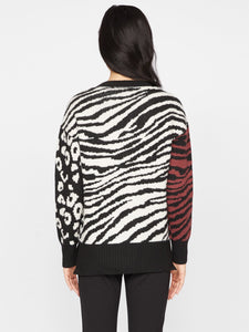Welcome To The Jungle Sweater - Multi Animal