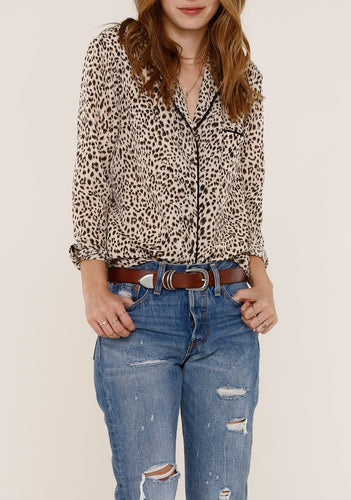 Benny Leopard Button Up