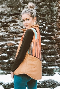 Tan Embroidered Vest
