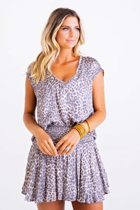 Leopard V Neck Signature Top