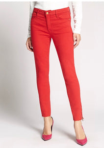 Red Social Standard Ankle Zip Jeans