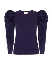 Jenna Cuffed Bold Shoulder Tee
