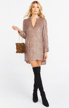 Roscoe Beaded Dress ~ Taupe Sequins