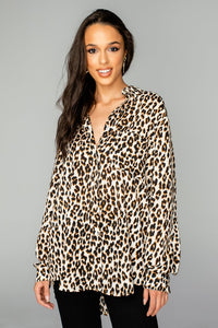 Portia Button Up - Wildcat