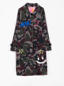 Berenice Coat - Graffiti Print