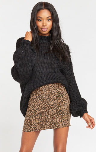 Roxanne Mini Skirt ~ Nice to Cheetah Stretch