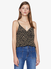 Essential Button Front Tank - Black Modern Spots