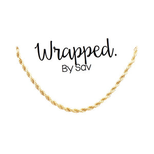 Gold Filled Chunky Rope Necklace