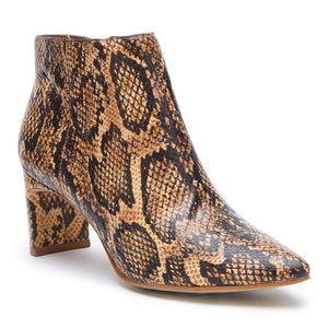 Crush Natural Snake Bootie