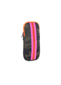Glasses Case - Green Camo/Pink Orange