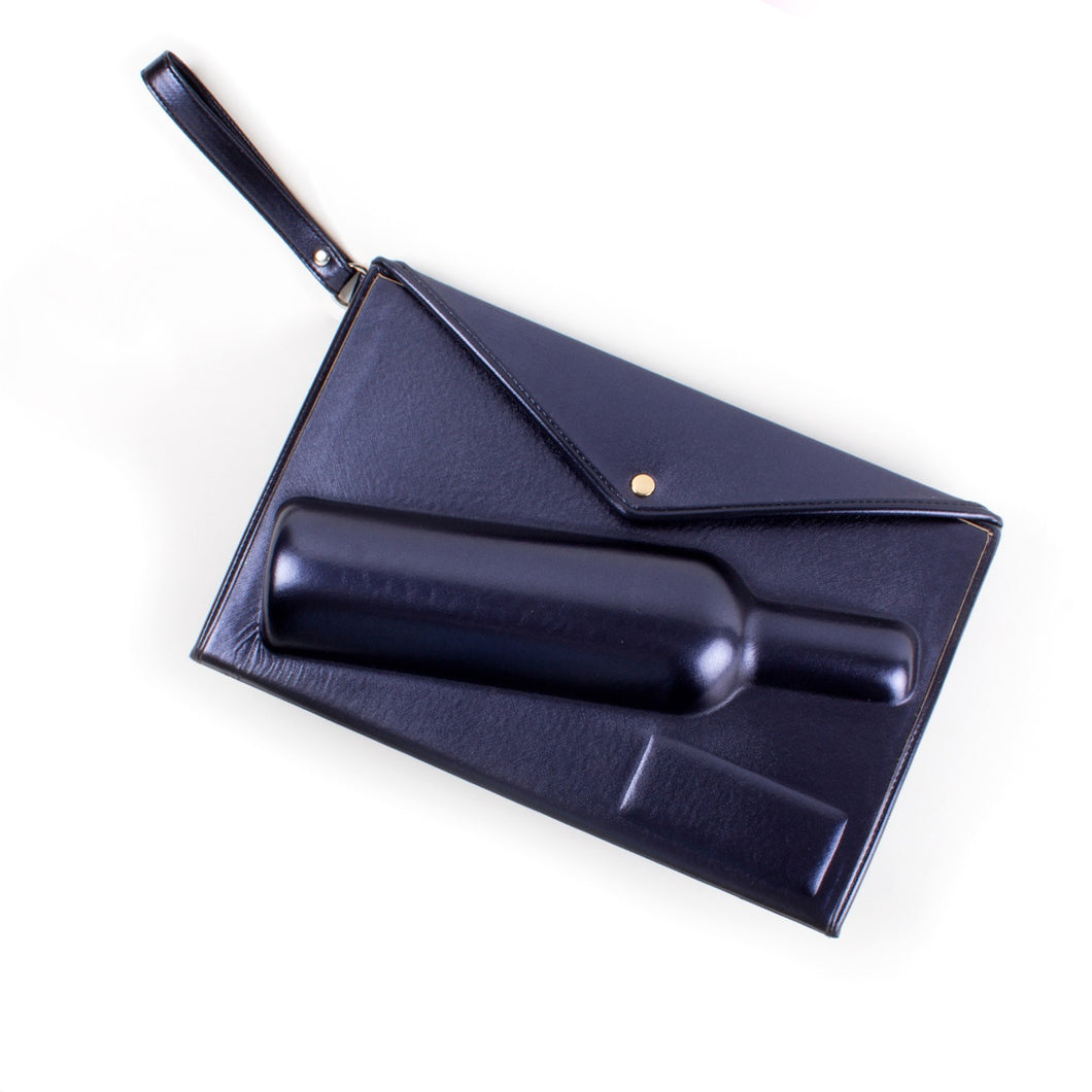 Wine Clutch - Navy