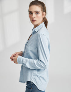 Button Down Shirt- Oxford Blue Melange