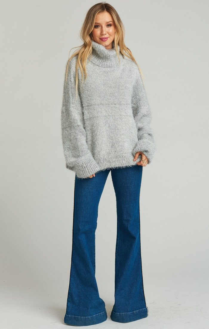 Fatima Turtleneck Sweater ~ Fuzzy Vail Knit
