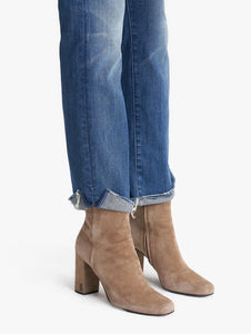 The High Waisted Rascal Ankle Slit Flip - Double Shot Espresso