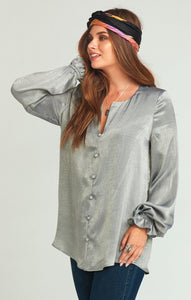 Paxton Tunic ~ Gunmetal Sheen