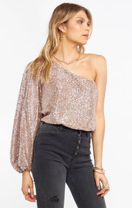 Party Top - Silver Confetti