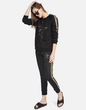 Jess Gold Glitter Lightning Star Lounge Pant