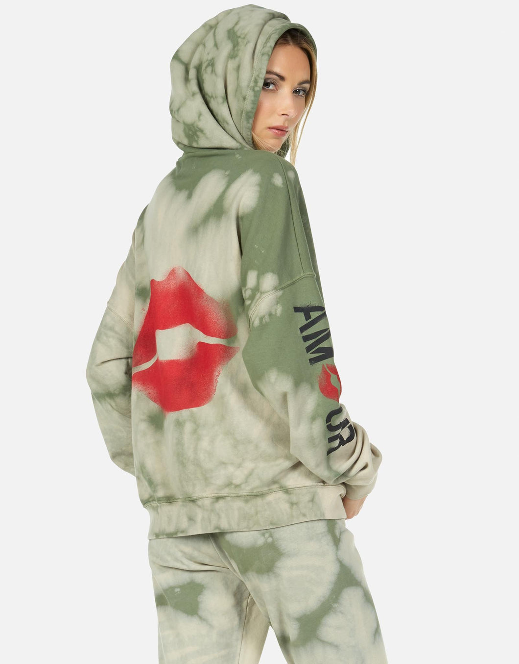 Koa Spray Kiss Zip Up Hoodie
