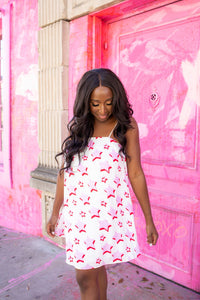 Sandra Swing Dress - Pink Sky
