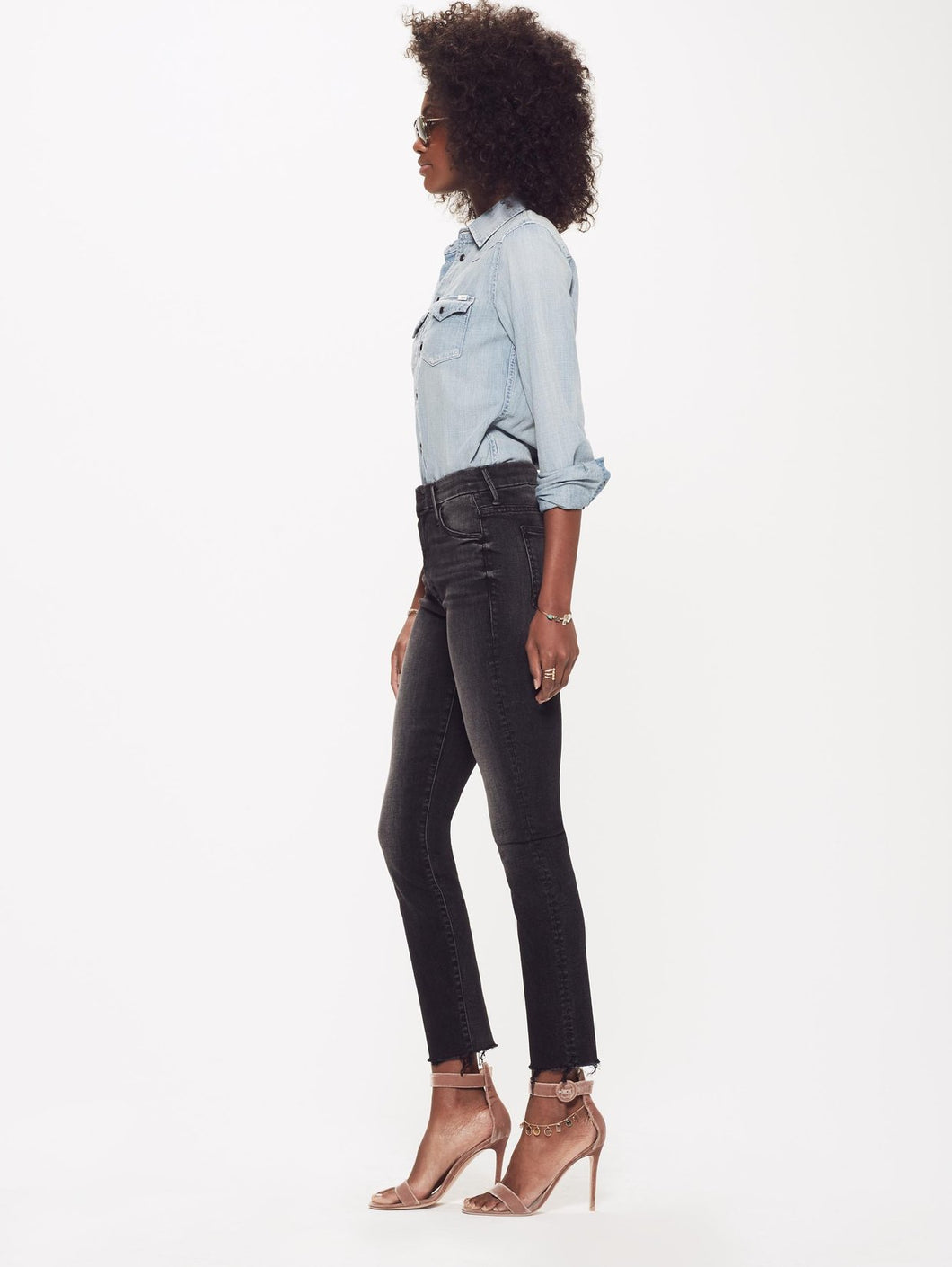 High Waisted Looker Ankle Fray ~ Night Hawk