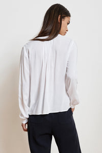Verona LS Pintuck Top