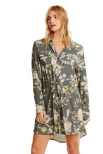 Heirloom Wovens Roll Sleeve Button Down Shirtdress