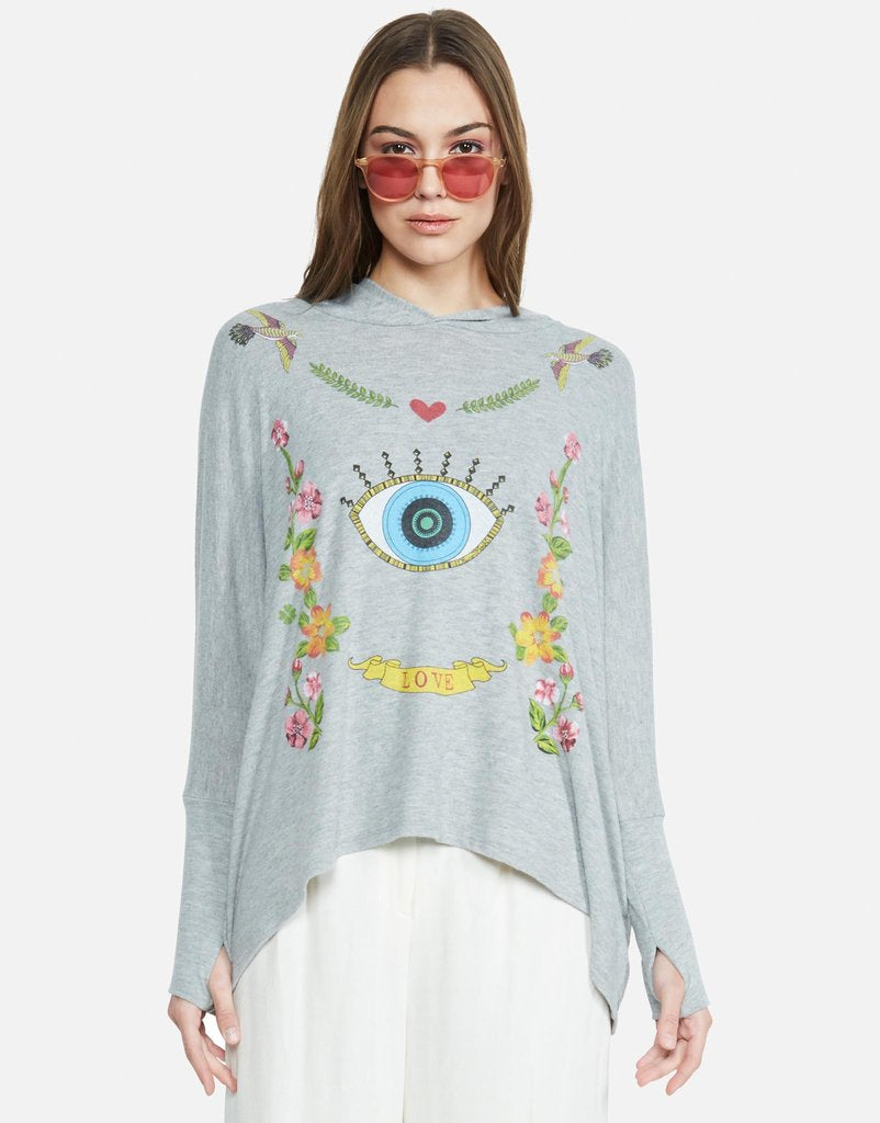 Wilma Floral Eye Love Pullover