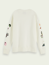 Cosmic Cotton-Blend Artwork Sweatshirt