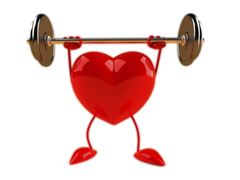 Heart lifting weights from Carbon 60
