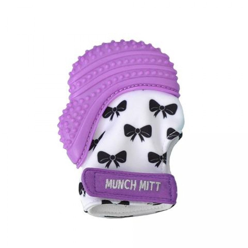 Munch Mitt - Purple Shimmer - Bows