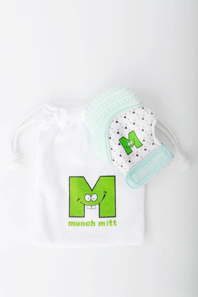 Munch Mitt - Mint Green Triangles