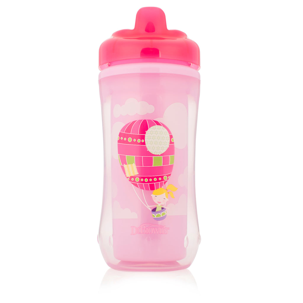 Hard-Spout Insulated Cup - Pink Balloon (Stage 3: 12m+)