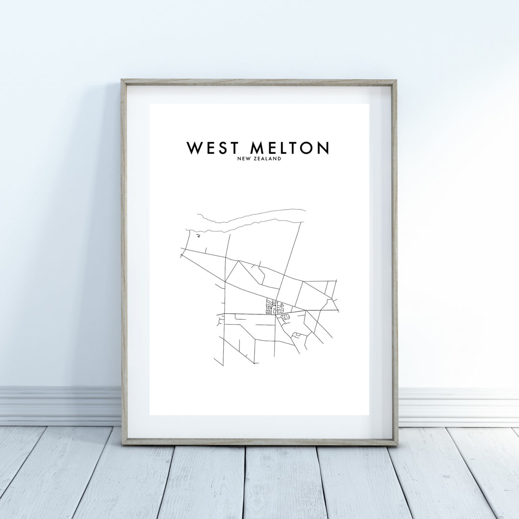 WEST MELTON HOMETOWN PRINT