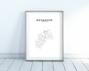 WEYMOUTH HOMETOWN PRINT