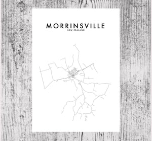 MORRINSVILLE HOMETOWN PRINT