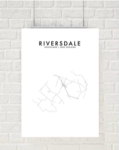 RIVERSDALE, SOUTHLAND HOMETOWN PRINT