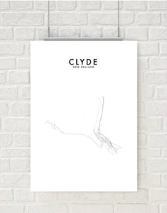 CLYDE HOMETOWN PRINT