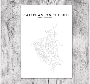 CATERHAM ON THE HILL HOMETOWN PRINT